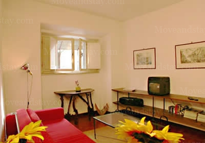 Living Room 1-Bedroom Apartment 0 Sq.m. Rome Apartments Piazza dei Mercanti (ME)
