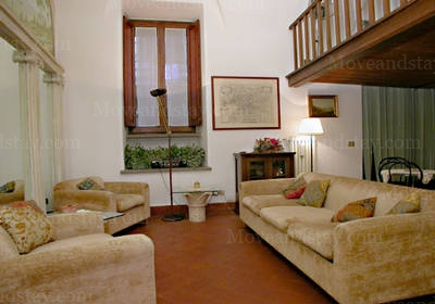 Living Room(2) 2-Bedroom Apartment 110 Sq.m. Rome Apartments Via del Governo Vecchio (GV)