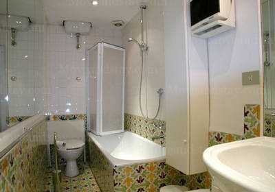 Bath Room 2-Bedroom Apartment 110 Sq.m. Rome Apartments Via del Governo Vecchio (GV)