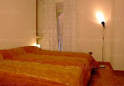 first bedroom 2-Bedroom Apartment 0 Sq.m. Rome Apartments Via dei Prefetti (PRE)