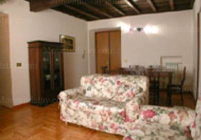 living room 2-Bedroom Apartment 0 Sq.m. Rome Apartments Via dei Prefetti (PRE)