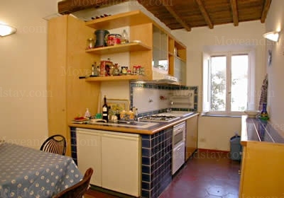 Kitchen 2-Bedroom Apartment 0 Sq.m. Rome Apartments Via Vittoria (VIT2)