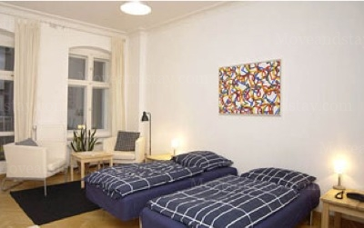 Wagner - Bedroom Studio Apartment 34 Sq.m. Apartments at Schoenhauser Allee 5