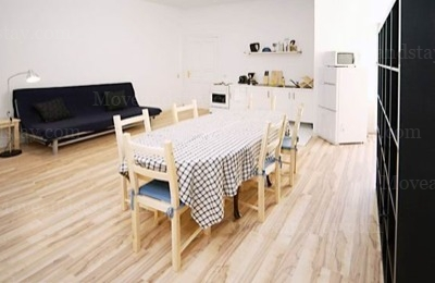 Hindemith - Living room Studio Apartment 34 Sq.m. Apartments at Schoenhauser Allee 5