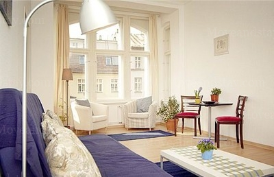 Mozart - Living room Studio Apartment 34 Sq.m. Apartments at Schoenhauser Allee 5