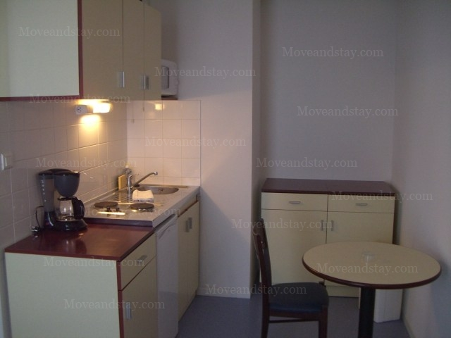 Living Room 2-Bedroom Apartment 45 Sq.m. Appart`City Nancy