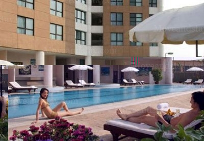 Swimming Pool 3-Bedroom Apartment 128 Sq.m. Somerset Grand Hanoi