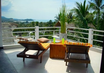View From Terrace 2-Bedroom Apartment 105 Sq.m. SamuiSabai