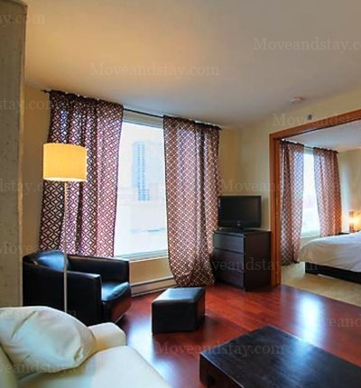 1-Bedroom Apartment 700 sqm Montreal Serviced Apartment ...
