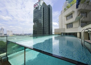 Swimming Pool Studio Apartment 50 Sq.m. Ascott Raffles Place Singapore