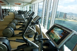 Gym 1-Bedroom Apartment  Sq.ft. Four Seasons Place Hong Kong