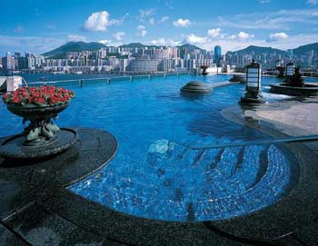 Outdoor Swimming Pool 1-Bedroom Apartment  Sq.ft. Harbour Grand Kowloon