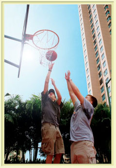Basketball Court 3-Bedroom Apartment 111 Sq.m. Great World Serviced Apartments