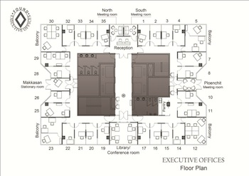 Floor Plan Serviced Offices Apartment 20 Sq.m. Executive Offices - Alma Link