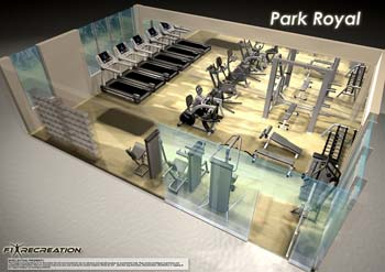 Gym Studio Apartment 65 Sq.m. Parkroyal Serviced Suites Kuala Lumpur