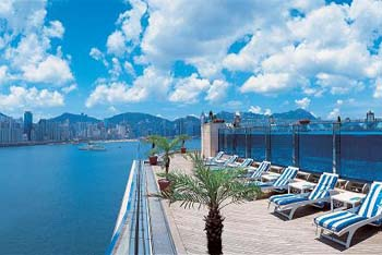 Rooftop lower pool deck 1-Bedroom Apartment  Sq.ft. Harbour Grand Kowloon