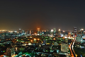 Atmosphere at night 1-Bedroom Apartment 102 Sq.m. The St.Regis Bangkok
