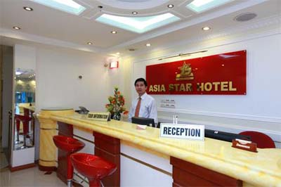 Reception Area Studio Apartment 25 Sq.m. Asia Star Hotel
