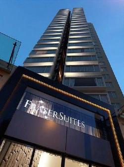Building 1-Bedroom Apartment  Sq.ft. Fraser Suites Hong Kong