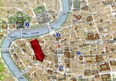 Location Map 1-Bedroom Apartment 60 Sq.m. Rome Apartments Via Sora (SO)