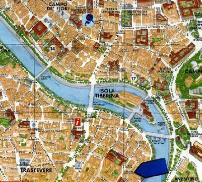 Location Map 1-Bedroom Apartment 0 Sq.m. Rome Apartments Piazza dei Mercanti (ME)