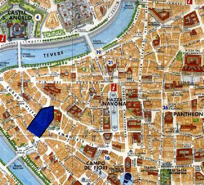 Location Map 2-Bedroom Apartment 110 Sq.m. Rome Apartments Via del Governo Vecchio (GV)