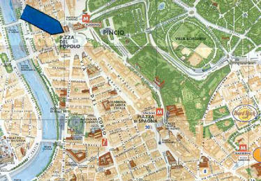 Location Map 1-Bedroom Apartment 0 Sq.m. Rome Apartments Via Flaminia (FLA)