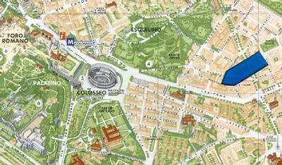 Location Map 1-Bedroom Apartment 0 Sq.m. Rome Apartments Via Ludovico Muratori (LM)