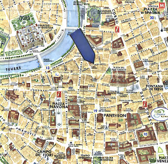 Location Map 2-Bedroom Apartment 0 Sq.m. Rome Apartments Via dei Prefetti (PRE)