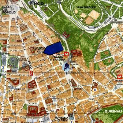 Location Map 2-Bedroom Apartment 0 Sq.m. Rome Apartments Via Vittoria (VIT2)
