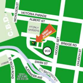 Location Map 2-Bedroom Apartment 0 Sq.m. Quest Jolimont Serviced Apartments