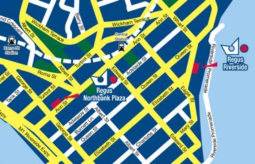 Location Map Serviced Offices Apartment 0 Sq.m. Regus Brisbane Northbank Plaza