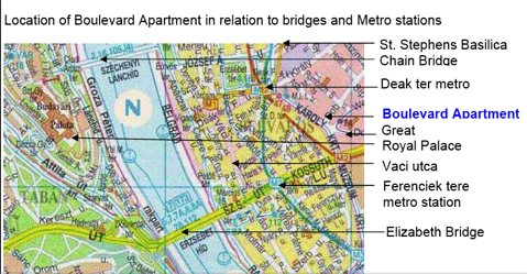 Location Map 2-Bedroom Apartment 0 Sq.m. Boulevard Apartment Budapest