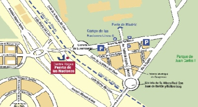Location Map Serviced Offices Apartment 0 Sq.m. Puerta de las Naciones