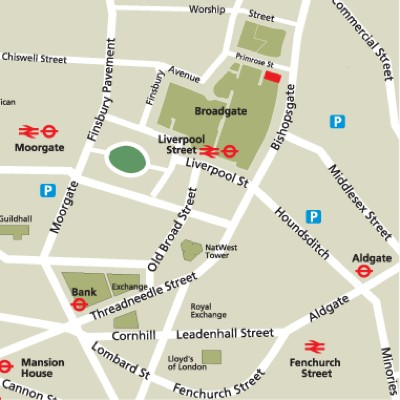 Location Map Serviced Offices Apartment 0 Sq.m. Broadgate Court