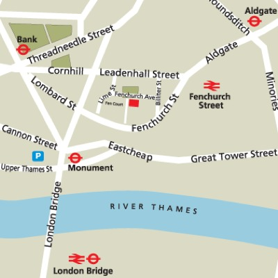 Location Map Serviced Offices Apartment 0 Sq.m. Fenchurch Avenue