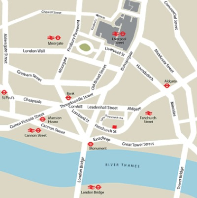 Location Map Serviced Offices Apartment 0 Sq.m. Fenchurch Street