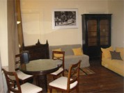 The apartment has been completely renovated in February 2004, and features a large living room with American kitchen, 2 sofa beds and antique furniture. From the living room, a door opens to the priva