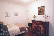 The apartment is in a 19th century building with a wide, sweeping staircase and an elevator. It is on the 1st French (2nd American) floor and is very bright and quiet. This  two-bedroom furnished apar