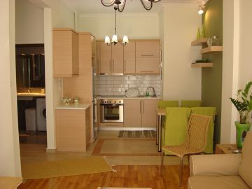 The apartment is on a big block of flats. This  one-bedroom furnished apartment is 50 sq.m and is located . The apartment has 1 bathroom. The minimum length of stay for this apartment is 1 Night(s).