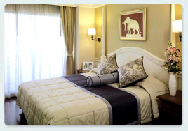 Deluxe B with washing machine Bedrooms