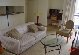 Living Area 1-Bedroom Apartment 55 Sq.m. Abode Apartments - Kent Street