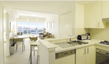 Fully Equipped Kitchen 1-Bedroom Apartment 55 Sq.m. Abode Apartments - Kent Street
