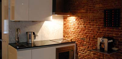 Kitchen Studio Apartment 55 Sq.m. Amsterdam Boutique Apartments