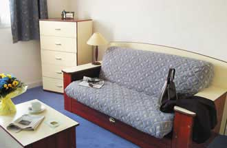 You will spend a quiet and relaxing stay. This  studio serviced apartment is 18 sq.m ,  and can sleep 2 people maximum.  The apartment has 1 bathroom. The minimum length of stay for this apartment is