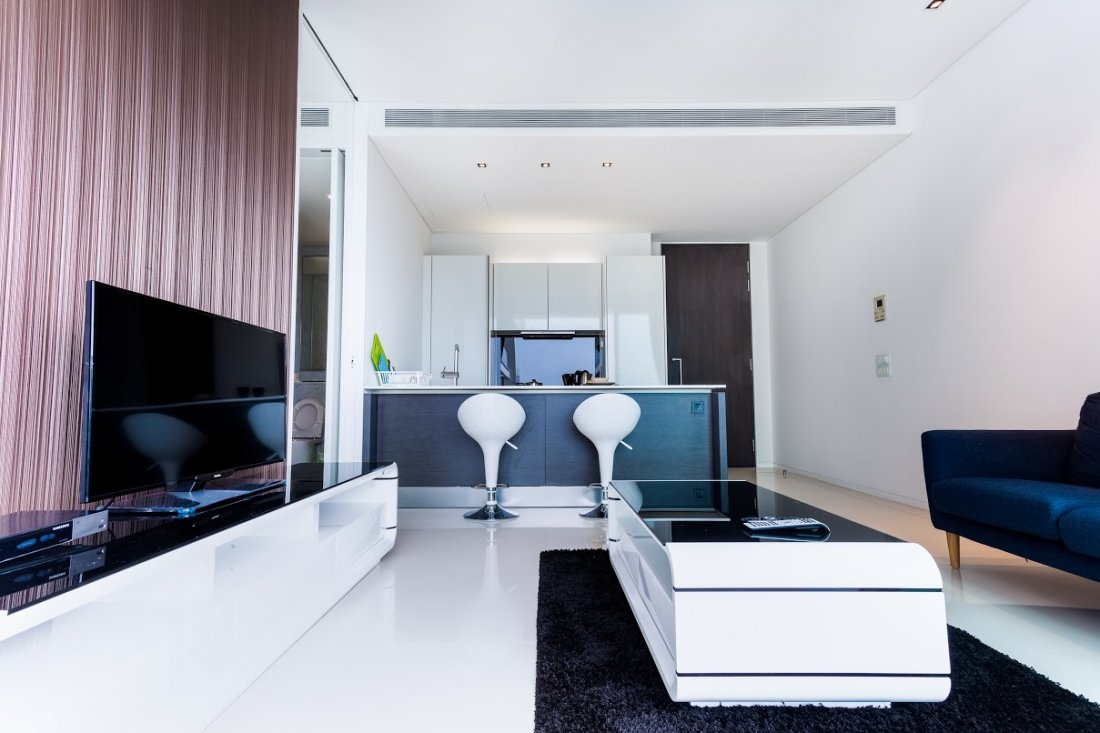 This  two serviced apartment is 680 sq.m ,  and can sleep 2 people maximum.  The apartment has 1 bathroom. The minimum length of stay for this apartment is 6 Month(s).
