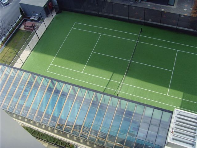 BBQ, tennis court & 25m pool from balcony 1-Bedroom Apartment 74 Sq.m. Bayviews at Southbank