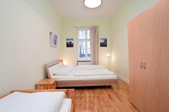 In the heart of one of the inner districts of Berlin in a restaurated old typical berlin building. This  two-bedroom furnished apartment is 80 sq.m and is located . The apartment has 1 bathroom. The m