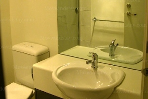 Toilet 1-Bedroom Apartment 38 Sq.m. Central City Accommodation - Melbourne CBD
