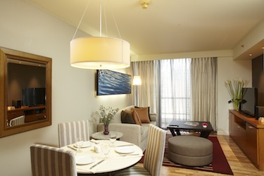 Living Room 1-Bedroom Apartment 70 Sq.m. Chatrium Residence Bangkok - Sathon